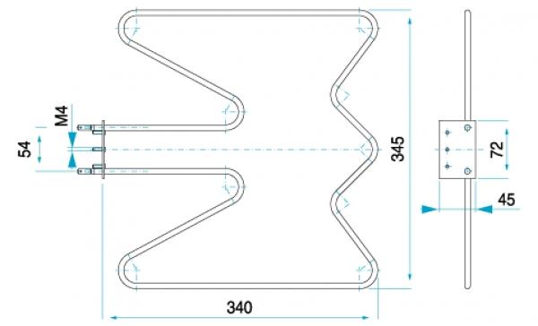 TYP 6030 - pre pečiace rúry kuchynských sporákov KONČAR