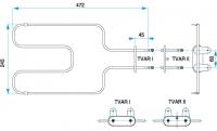 TYP 4379 - pre pečiacej rúry kuchynských sporákov MORA (spodné ohrievacie teleso)