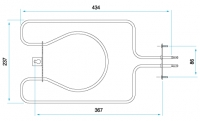 TYP 6288 - pre pečiace rúry kuchynských sporákov MORA (ohrievacie teleso pre gril)